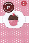 Collegetimer A6 day by day Cupcake 2015/2016