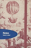 "Premium Notes Small Textile ""Toile de Jouy"""